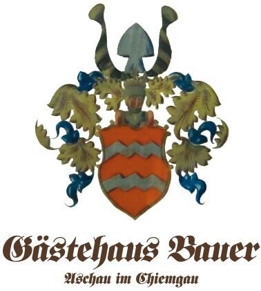 Wappen Gästehaus Bauer mit Schiftzug